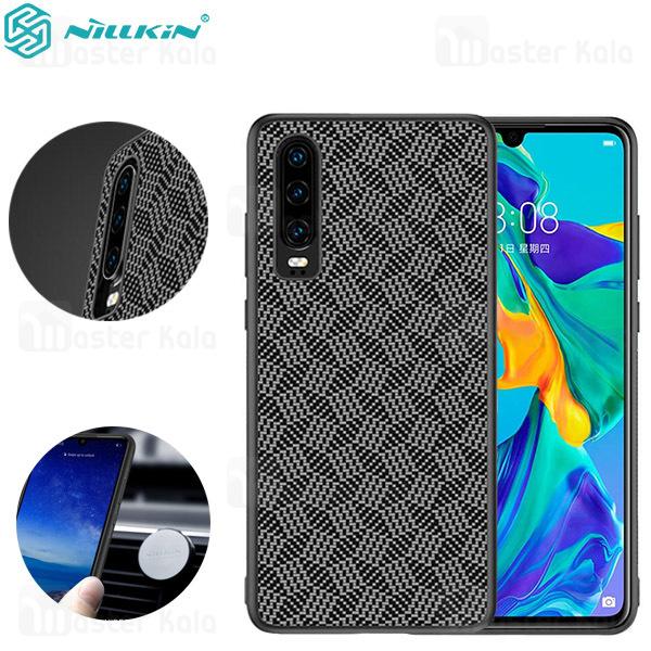 قاب فیبر کربنی نیلکین هواوی Huawei P30 Nillkin Synthetic Fiber Plaid