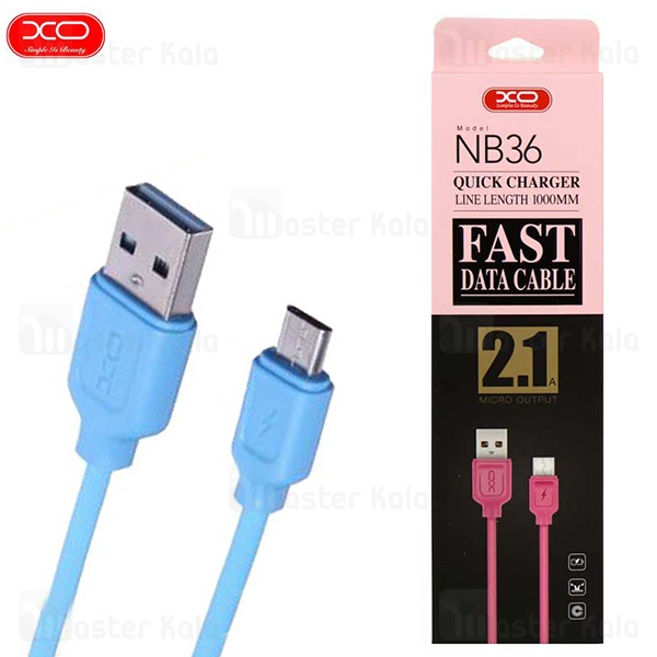 کابل  میکرو یو اس بی ایکس او XO NB36 Data Charging Cable توان 2.1 آمپر