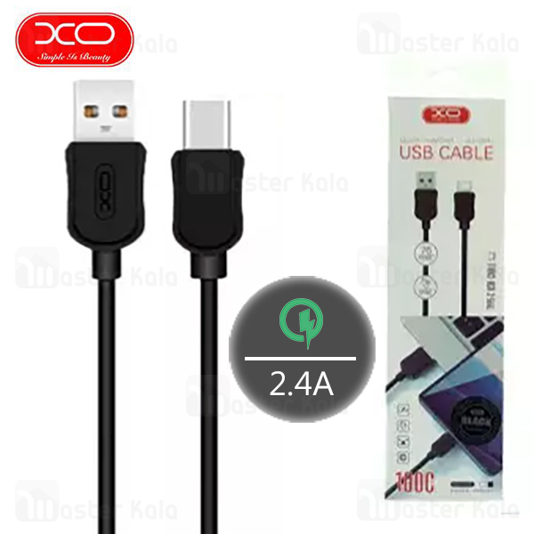 کابل  Type C فست شارژ ایکس او XO NB41 Data Charging Cable QC توان 2.4 آمپر