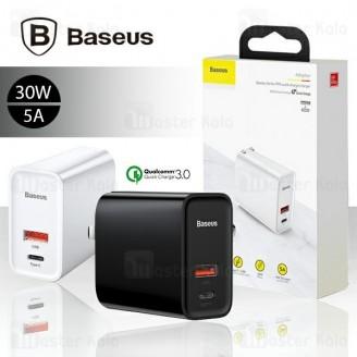 شارژر دیواری بیسوس Baseus Speedy PPS QC3.0 5A Charger CCFS-B01 سوپر شارژ 30 وات