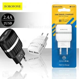 شارژر دیواری بروفون Borofone BA24A Dual Port Charger 2.4A