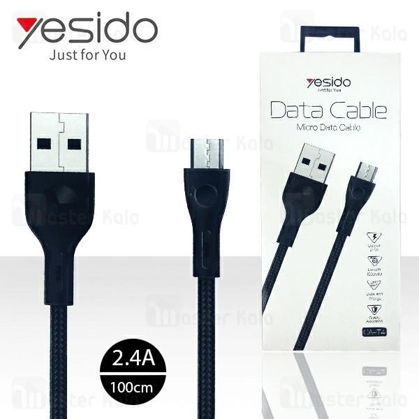 کابل میکرو یو اس بی یسیدو Yesido CA-T4 Data Charging Cable توان 2.4 آمپر