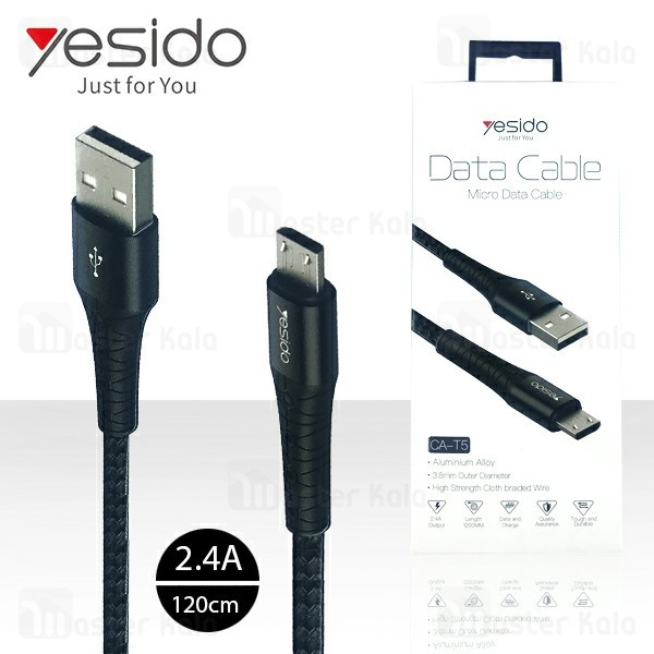 کابل میکرو یو اس بی یسیدو Yesido CA-T5 Data Charging Cable توان 2.4 آمپر