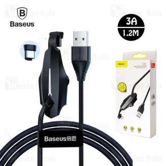 کابل Type C بیسوس Baseus Colorful Sucker RPG Data Cable 1.2m CATXA-A01 توان 3 آمپر