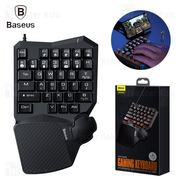 کیبورد گیمینگ Baseus GAMO One-Handed Gaming Keyboard GMGK01-01