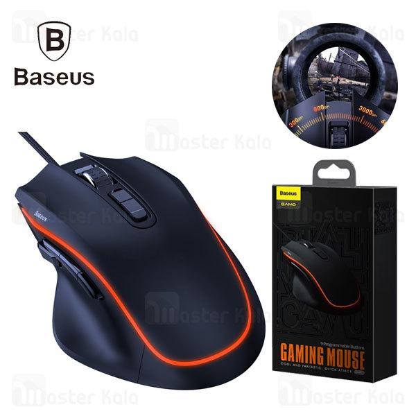 موس گیمینگ بیسوس Baseus GMGM01-01 Gaming Mouse دارای 9 کلید