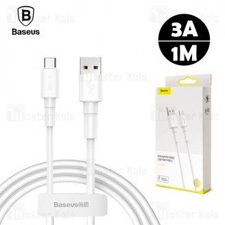 کابل Type C بیسوس Baseus Mini White CATSW-02 توان 3 آمپر