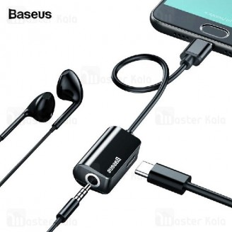 کابل تبدیل Type C اتصال همزمان هندزفری و شارژر Baseus Audio Converter CATL40-01