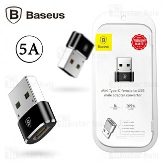 تبدیل Type C به USB بیسوس Baseus USB To Type-C Adapter Converter CAAOTG-01