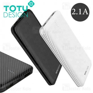 پاوربانک 10000 میلی آمپر توتو TOTU PB32 Fiber Power Bank توان 2.1 آمپر