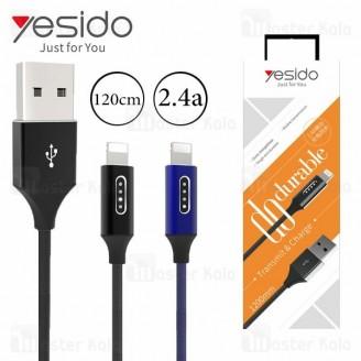 کابل لایتنینگ یسیدو Yesido CA18 Cable توان 2.4 آمپر و طول 1.2 متر