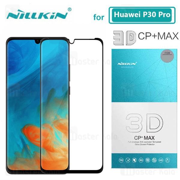 محافظ صفحه شیشه ای تمام صفحه و خمیده نیلکین Huawei P30 Pro Nillkin CP+ Max