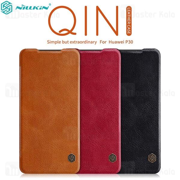 کیف چرمی نیلکین هواوی Huawei P30 Nillkin Qin Leather Case