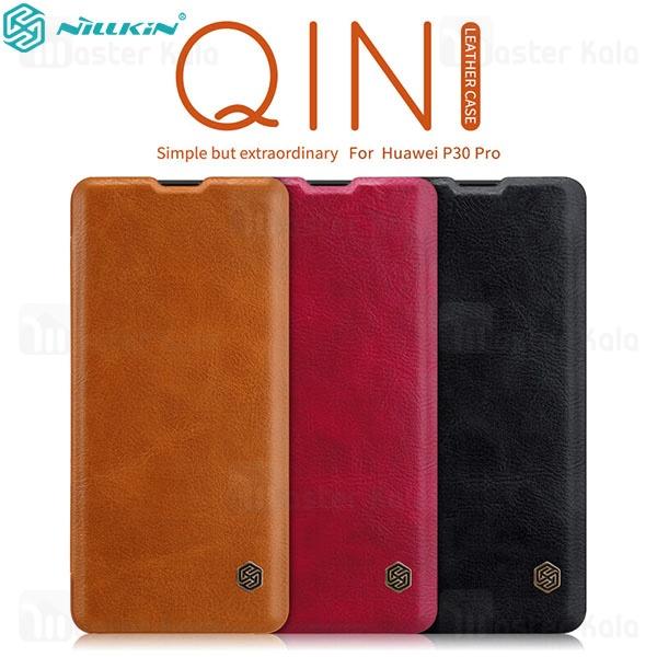 کیف چرمی نیلکین هواوی Huawei P30 Pro Nillkin Qin Leather Case