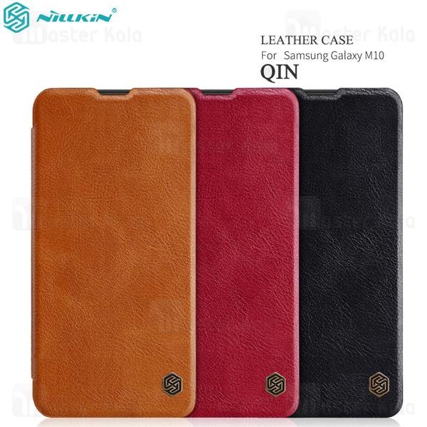 کیف چرمی نیلکین سامسونگ Samsung Galaxy M10 Nillkin Qin Leather Case