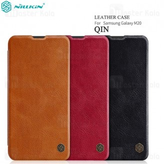 کیف چرمی نیلکین سامسونگ Samsung Galaxy M20 Nillkin Qin Leather Case