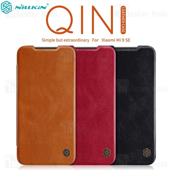 کیف چرمی نیلکین شیائومی  Xiaomi Mi 9 SE / Mi9 SE Nillkin Qin Leather Case