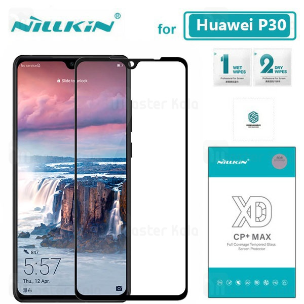 محافظ صفحه شیشه ای تمام صفحه تمام چسب نیلکین هواوی Huawei P30 XD CP+ Max