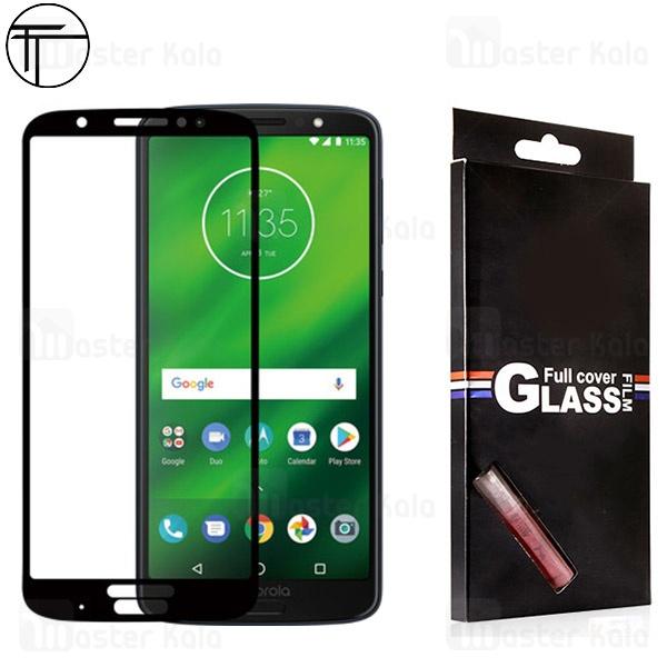 محافظ صفحه شیشه ای تمام صفحه تمام چسب TT موتورولا Motorola Moto G6 Plus