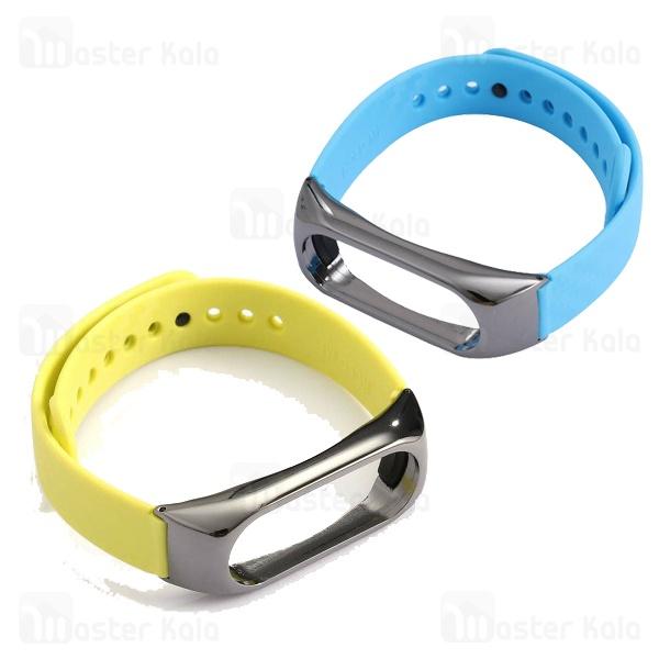 بند فیبرکربنی فریم فلزی دستبند سلامتی شیائومی Xiaomi Mi Band 2