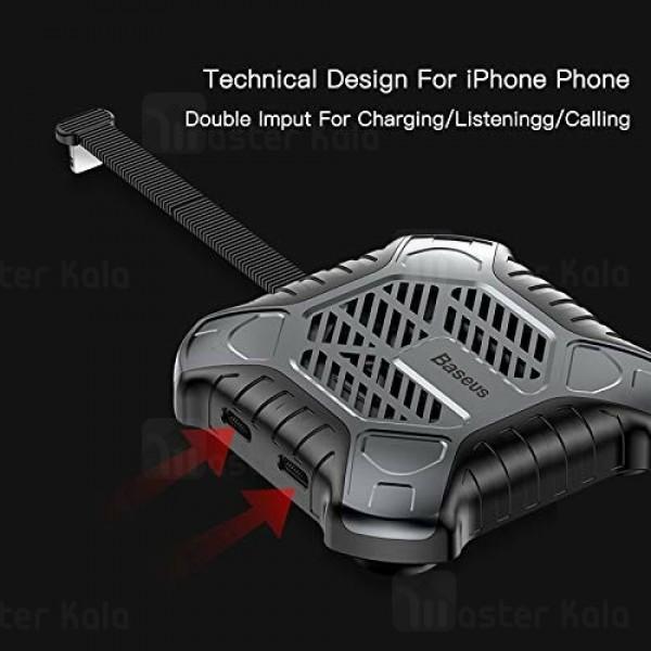 فن لایتنینگ اتصال همزمان هندزفری و شارژر Baseus X-Men Audio Radiator ACSR-XJ09