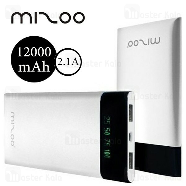 پاوربانک 12000 میلی آمپر میزو Mizoo L36 Phantom Power Bank توان 2.1 آمپر
