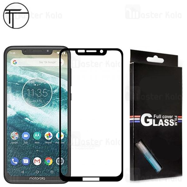 محافظ صفحه شیشه ای تمام صفحه تمام چسب TT موتورولا Motorola One / P30 Play