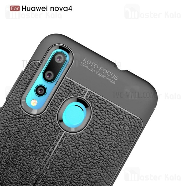قاب محافظ ژله ای طرح چرم هواوی Huawei Nova 4 Auto Focus