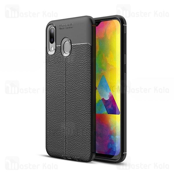 قاب محافظ ژله ای طرح چرم سامسونگ Samsung Galaxy M20 Auto Focus
