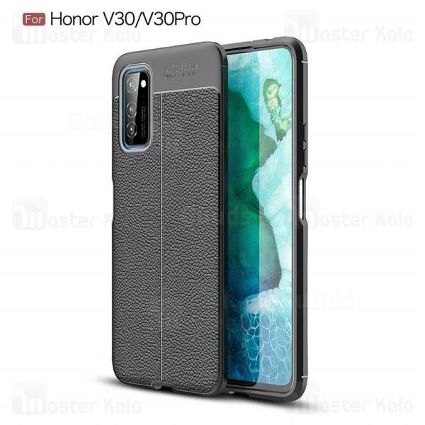 قاب محافظ ژله ای طرح چرم هواوی Huawei Honor V30 / V30 Pro Auto Focus