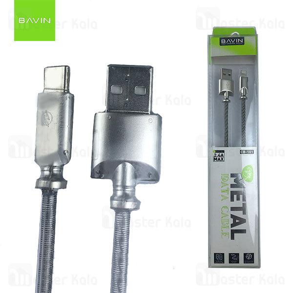 کابل Type C باوین Bavin CB-101 Cable توان 2.4 آمپر و طول 1 متر