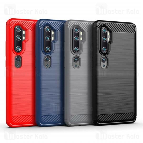 قاب محافظ ژله ای Xiaomi Mi CC9 Pro / Mi Note 10 / Mi Note 10 Pro Rugged Armor Fiber Carbon