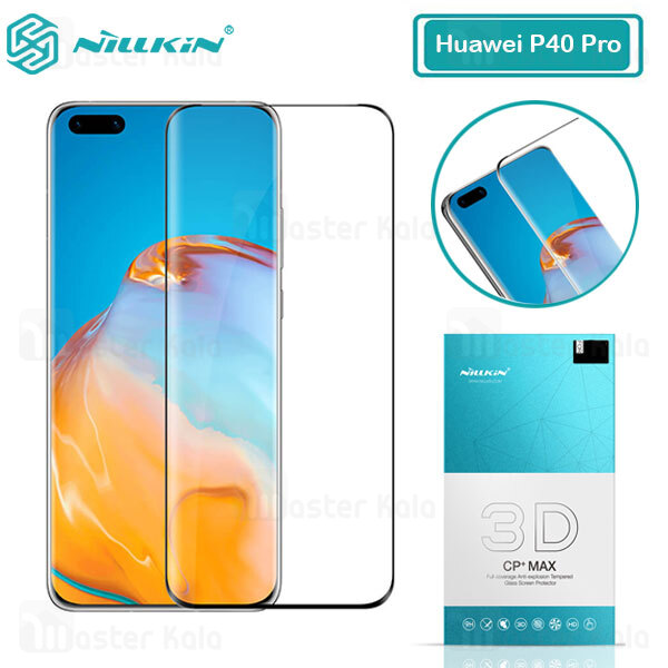 محافظ صفحه شیشه ای دورچسب تمام صفحه نیلکین Huawei P40 Pro / P40 Pro Plus 3D CP+ Max
