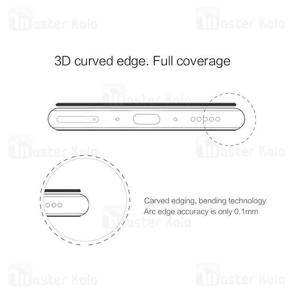 محافظ صفحه شیشه ای دورچسب تمام صفحه نیلکین OnePlus 8 Pro 3D CP+ Max