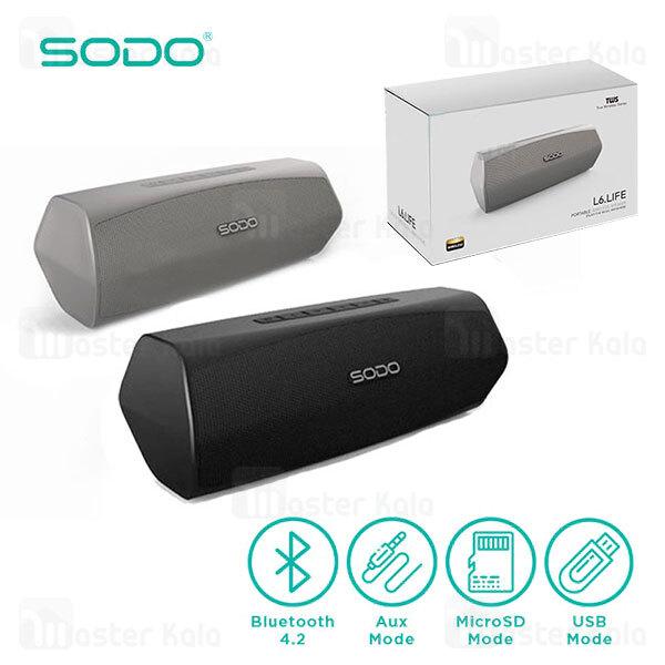 اسپیکر بلوتوث سودو SODO L6 Life Bluetooth Speaker 20W دارای درگاه رم و فلش