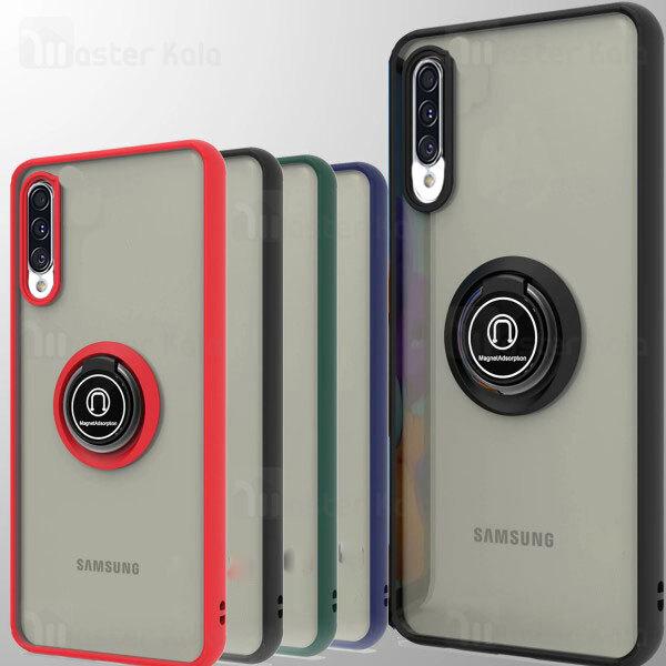 قاب مات هیبریدی انگشتی Samsung Galaxy A50 / A50s / A30s Matte Hybrid Ring Case