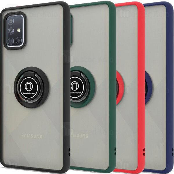 قاب مات هیبریدی انگشتی Samsung Galaxy A51 / A515 Matte Hybrid Ring Case