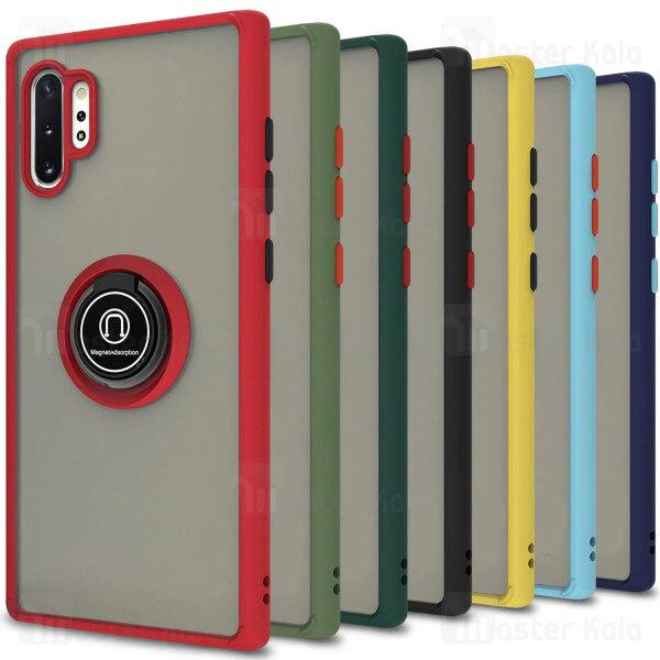 قاب مات هیبریدی انگشتی Samsung Galaxy Note 10 Plus Matte Hybrid Ring Case