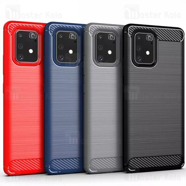 قاب محافظ ژله ای سامسونگ Samsung Galaxy S10 Lite Rugged Armor Fiber Carbon