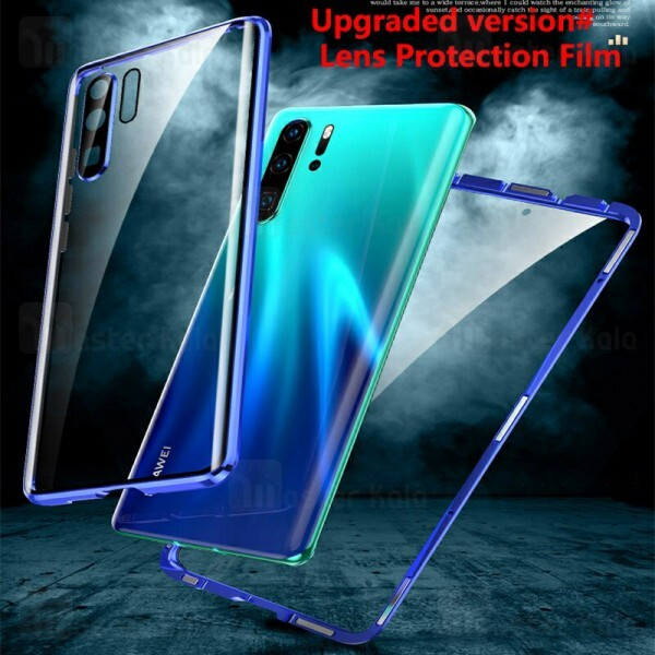 قاب مگنتی 360 درجه هواوی Huawei P30 Pro Magnetic 3 in 1 Case دارای گلس صفحه و محافظ لنز