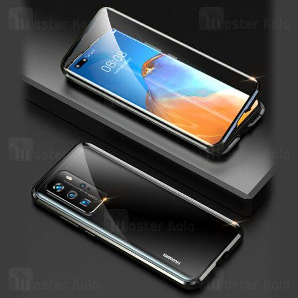 قاب مگنتی 360 درجه هواوی Huawei P40 Pro Magnetic 3 in 1 Case دارای گلس صفحه و محافظ لنز