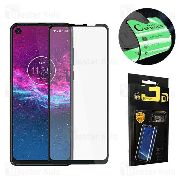 محافظ صفحه نانو سرامیک تمام صفحه و تمام چسب موتورولا Motorola One Action / One Vision / P40 Mocol Glass