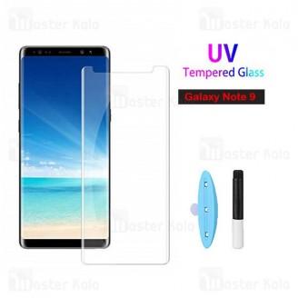 محافظ صفحه شیشه ای تمام صفحه و خمیده یو وی سامسونگ Samsung Galaxy Note 9 UV Nano Glass