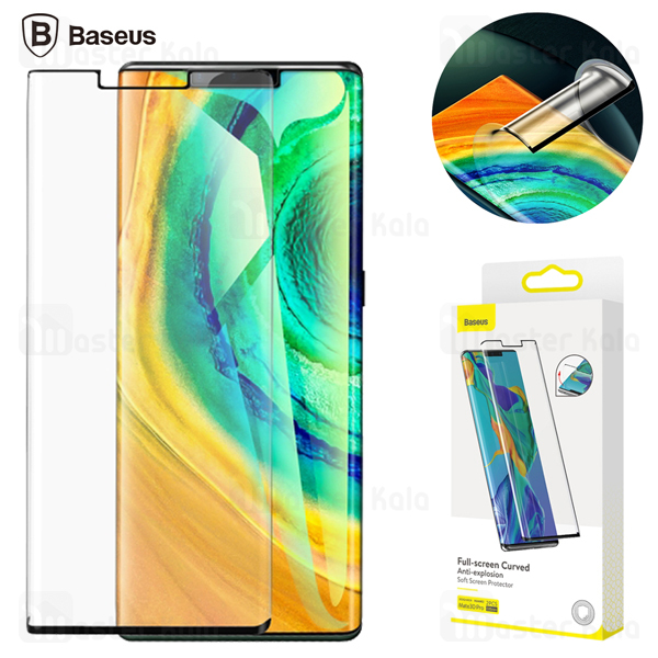 پک دوتایی محافظ صفحه نانو تمام صفحه تمام چسب Huawei Mate 30 Pro Baseus SGHWMATE30P-KR01