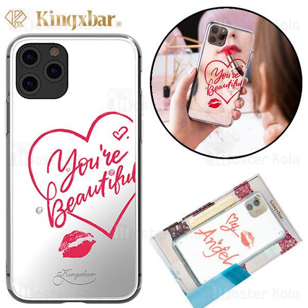 قاب آینه ای Apple iphone 11 Pro Kingxbar Swarovski Heart Series