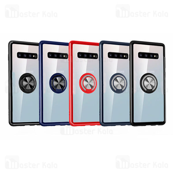 قاب مات هیبریدی انگشتی Samsung Galaxy S10 Plus Matte Hybrid Ring Case
