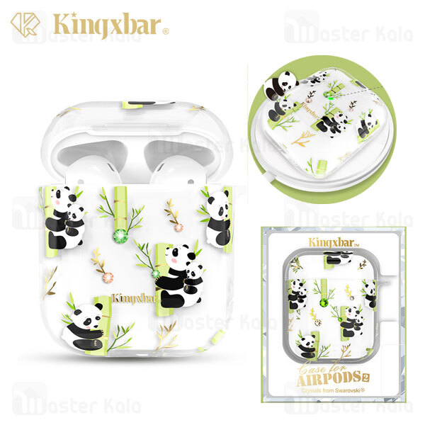 کاور ایرپاد Apple Airpods 1 / 2 Kingxbar Swarovski Adorkable Series Panda