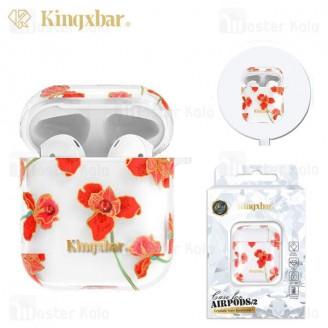 کاور ایرپاد Apple Airpods 1 / 2 Kingxbar Swarovski Fresh Series Kapok