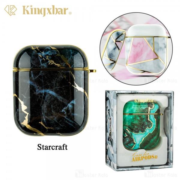 کاور محافظ ایرپاد Apple Airpods 1 / 2 Kingxbar Swarovski Marble Series StarCraft