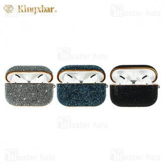 کاور ایرپاد پرو Apple Airpods Pro Kingxbar Swarovski Crystal Fabric Series